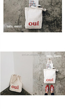 Canvas bag spring and summer harajuku FengRi han edition contracted letters canvas women's shoulder bag