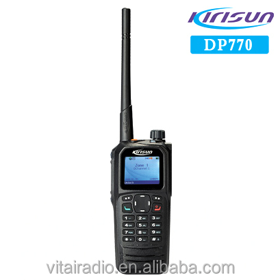 Kirisun DP770 IP67 Water & Dust 2000mAh Li-ion 136-174MHz/400-470MHz DMR Tier 2 & Tier 3 Two-way Radios