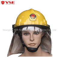 Plastic fire proof adjustable fireman protective hats with chin straps