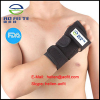 Adjustable Palm Wrist Hand Strap Hand Wrap Support Brace Supports Neoprene Black