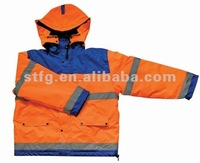 polar fleece warm traffic safety jacket with elastic cuff