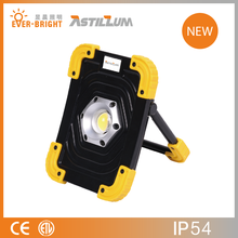 Portable Rechargeable 10W LED Work Light Lithium Battery with USB Output