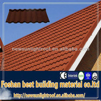 High Quality Colorful Sand Coated Metal Roof tile for house/Rustic Roof Tiles/Resin Roof Tile