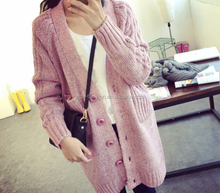 western style autum winter chunky heavy thick acrylic cardigan sweater for women