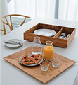 Multifunctional Bamboo Serving Tray with Container Combo
