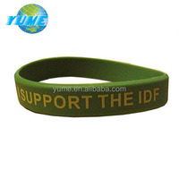 OEM Support IDF Soldiers Awareness Army Rubber Silicone Bracelet Israel