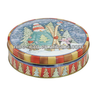 Cookie Candy Tinplate Packaging Box Empty Tin Cans Made In China