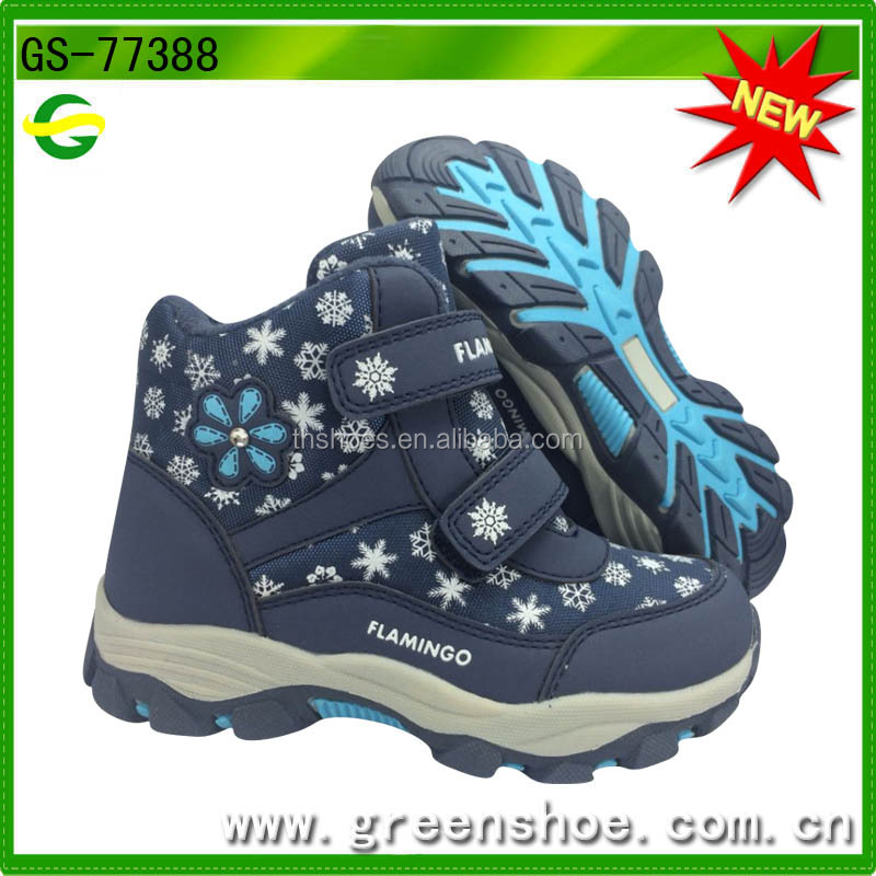 waterproof kids girl's comfort mid calf snow boots