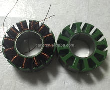 BLDC motor stator lamination stacking with coil