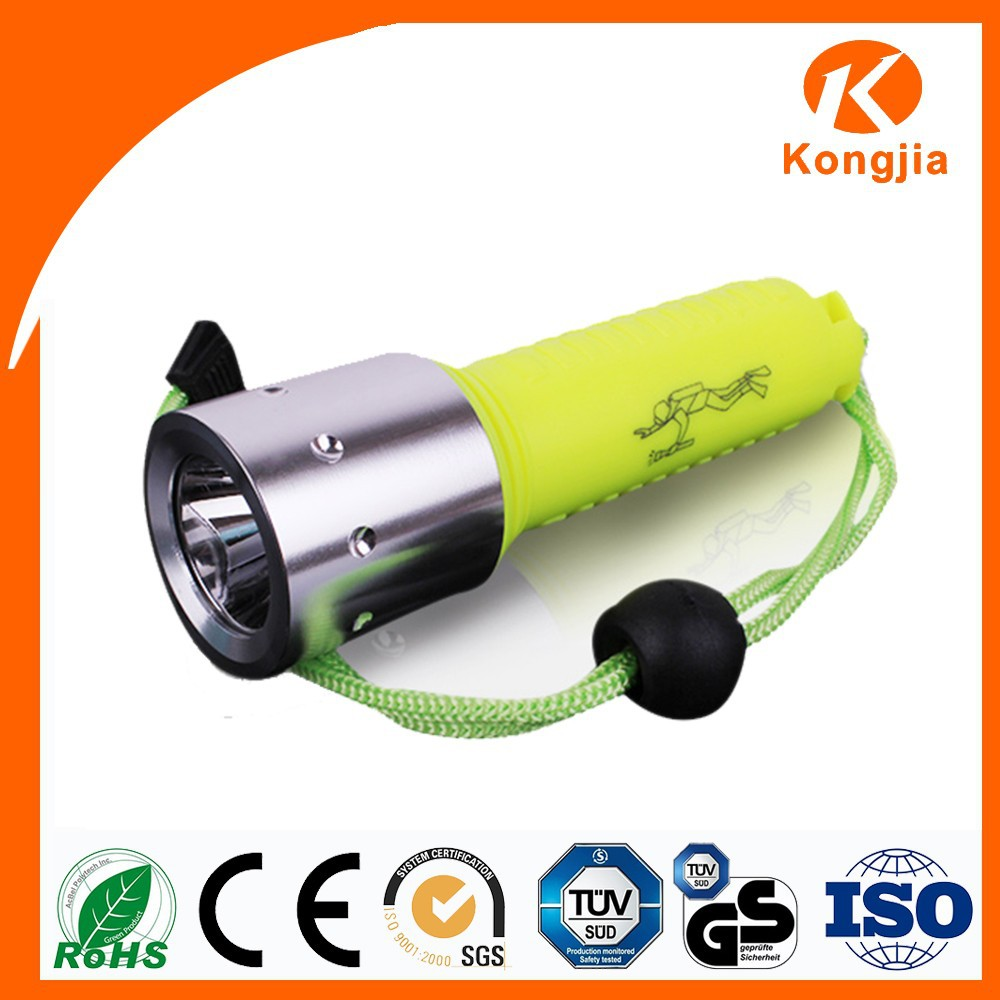 Long Distance Torch Light Aluminum And Plastic Led Rechargeable Dive Flash Light