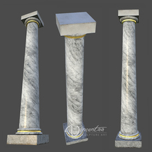 architectural natural stone carving square gate pillars for sale