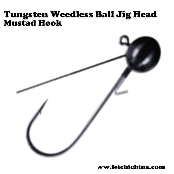 high quality Weedless Ball Jig Head mustad hook Tungsten fishing metal jig