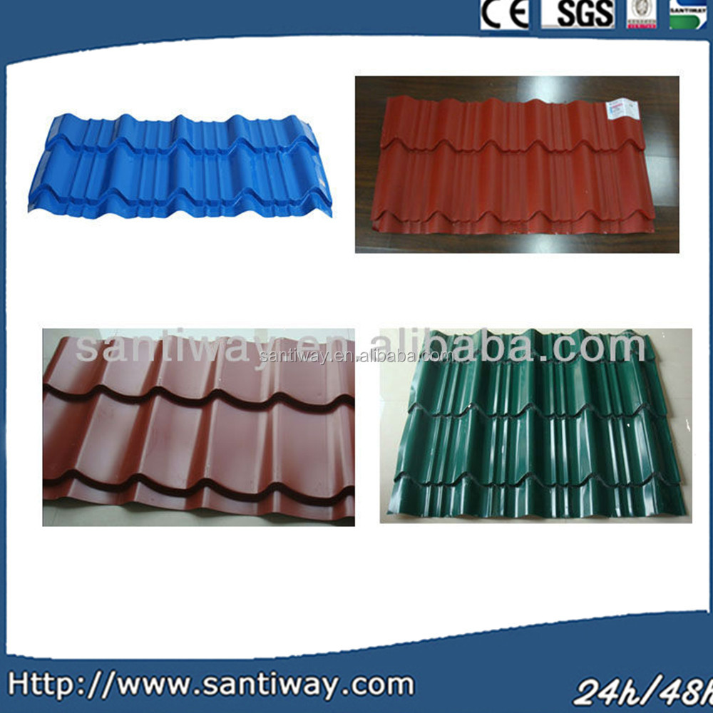 ppgi pre-painted galvalume steel green roof tiles