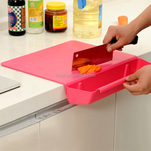 custom creative foldable plastic vegetable fruit cutting board food grade pp chopping board 2 in 1 with basket