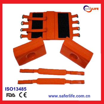 wholesale ambulance cephalostat spine board head holder universal head immobilizer for medical supplies scoop stretcher