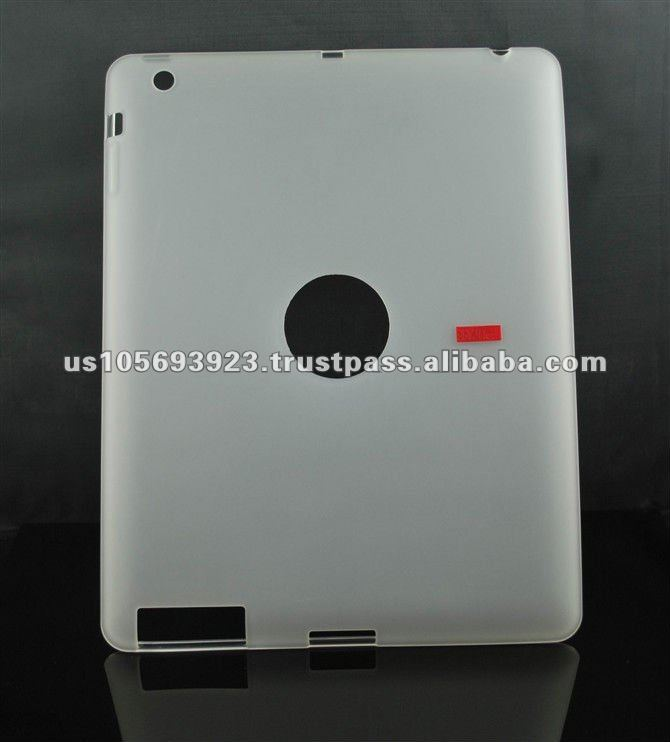TPU case for the new iPad iPad3 with dull polish for inner and outside