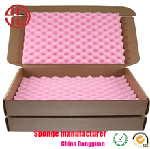Protective foam inlay wave shape polyurethane material soft foam insert