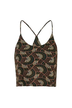 Hot fashion printed halter ladies tops latest design