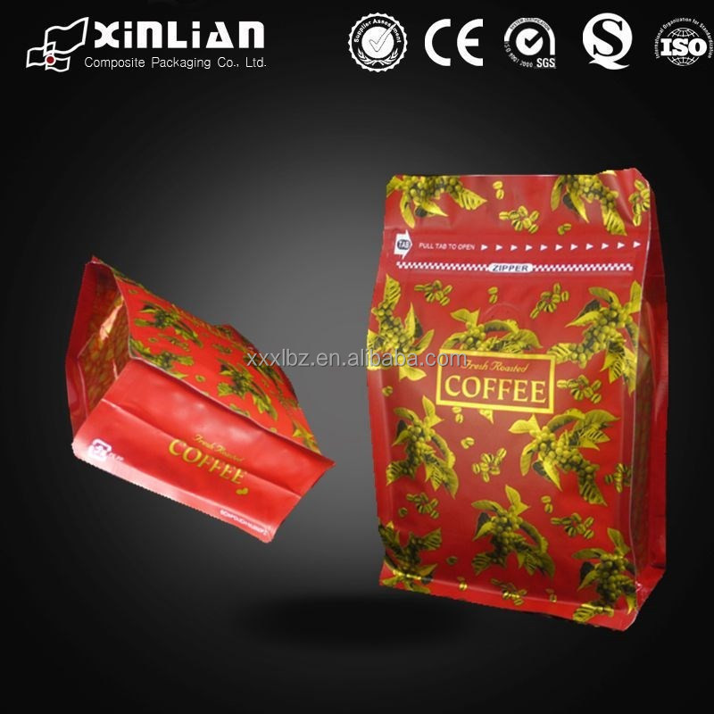 custom printing aluminium foil drip coffee bag with filter and tin tie