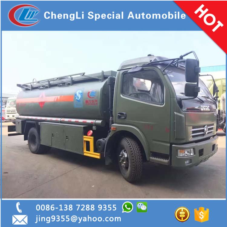Hot selling 4*2 tanzania oil tanker, 6 tons small refueling tanker truck