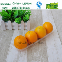 New Products Transparent Eco-friendly Food Grade Plastic Packaging Tray for 4 Lemons Fruit