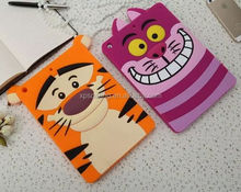 Smart silicone case for ipad air cat/ tiger design, soft cover for ipad 5