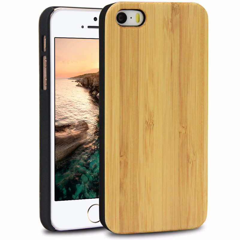 Christmas Promotional Natural Hard Blank Wooden Cover Case For iPhone 4
