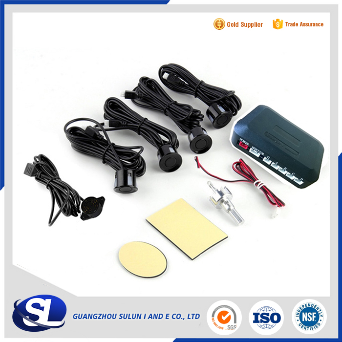 Car Parking Sensor 4 Sensors Monitor Auto Reverse Backup Radar Detector