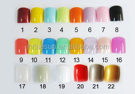 Risesun Abs Nail Design Artificial Fingernails False Toenail Toe