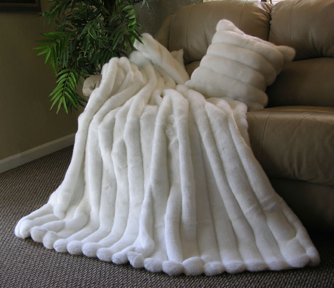 custom made size and color accept rex rabbit fur blanket