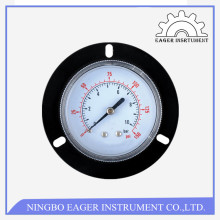 High quality stainless steel brass internal 2.5 inch bottom connection pressure meter