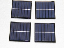 High efficiency custom-made 60*60mm 3V 0.3W mini epoxy resin solar panel for solar chargers/toys