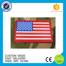 custom national flag pvc patch embroidery patch