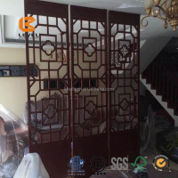 Top Grade Elegant Lexury MDF Wood Grille Laser Cutting Screen Panels Indoor Villa Decoration