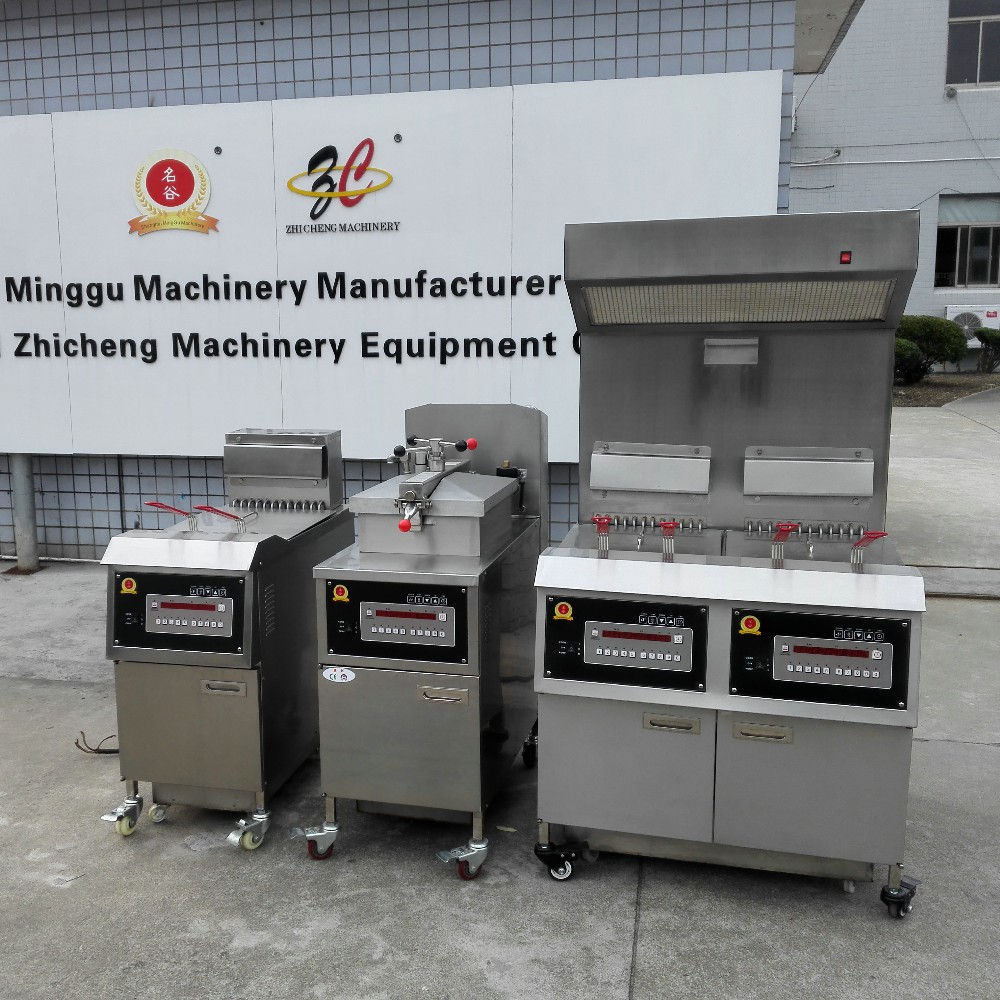 industrial gas fryer pressure chicken fryer for sale with oil pump and Awesome quality industrial deep fryer