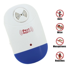 Mosquito CockrachKiller Electronic Ultrasonic Pest Repeller Reject Rat Insect Repellent Anti Rodent Bug Reject Ect US PLUG
