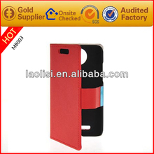 Flip leather cases and cover for htc desire 501 with high quality