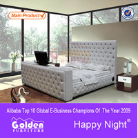 2015 payment asia alibaba china bed with tv in the footboard G922