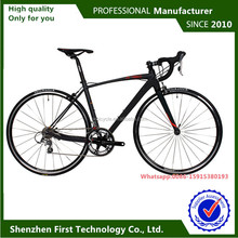 two wheelset carbon fiber fork road bike typically used for racing
