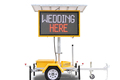 Portable Variable Message Signs Board Outdoor Led Display VMS Sign Mobile Solar Trailer