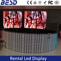 104pcs Indoor rental curve P3.91 LED, round led display