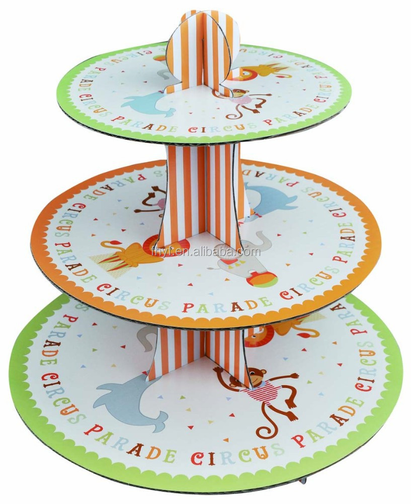 3 tire New Design Pirate Ship Paper Cake Stand Cupcake Holder