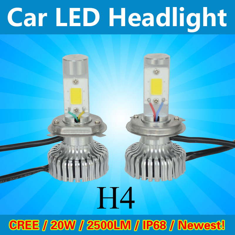 2015 led motorcycle headlight 3200LM outpur brightest LED headlight H4 hi/lo beam