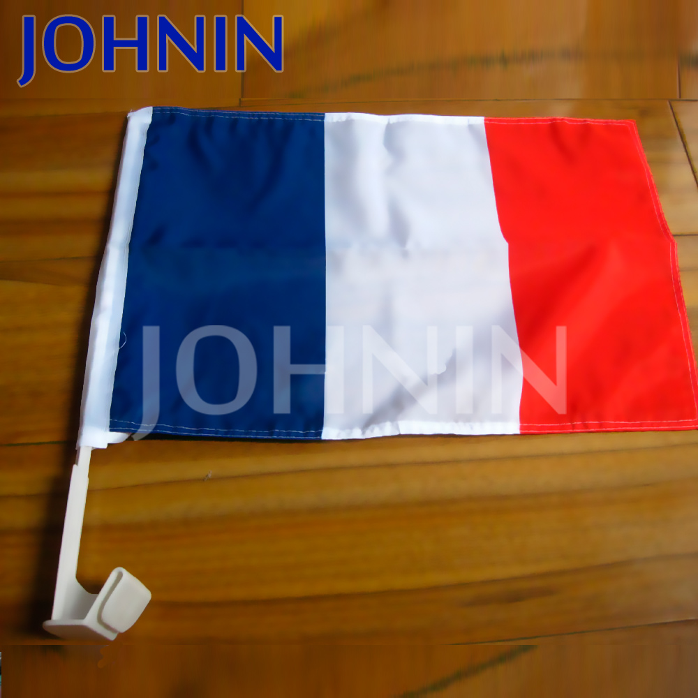 Wholesale Sports events Promotional France car flag with plastic pole