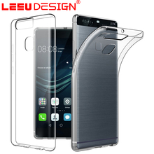 Crystal clear tpu matt soft case cover phone case for huawei P9