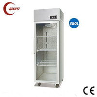C2 stainless steel single glass door showcase fridge cooler 380L