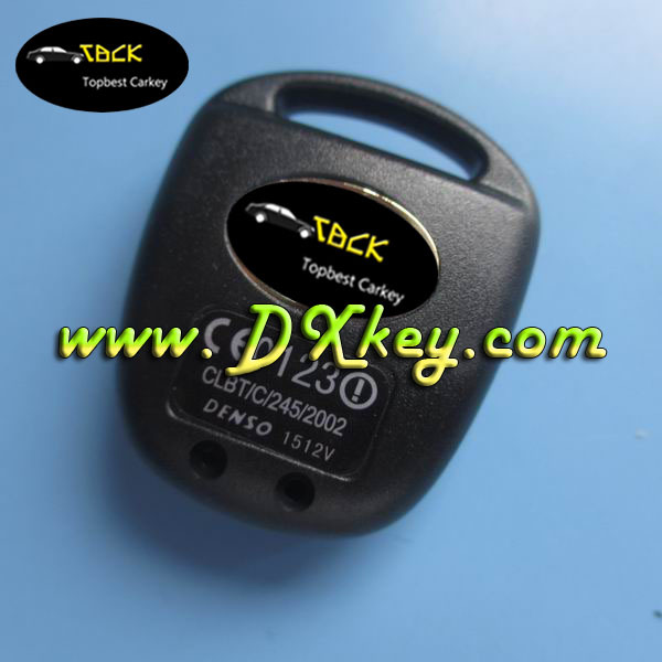 High quality 2 button remote key blank with logo for toyota car key toyota platz key