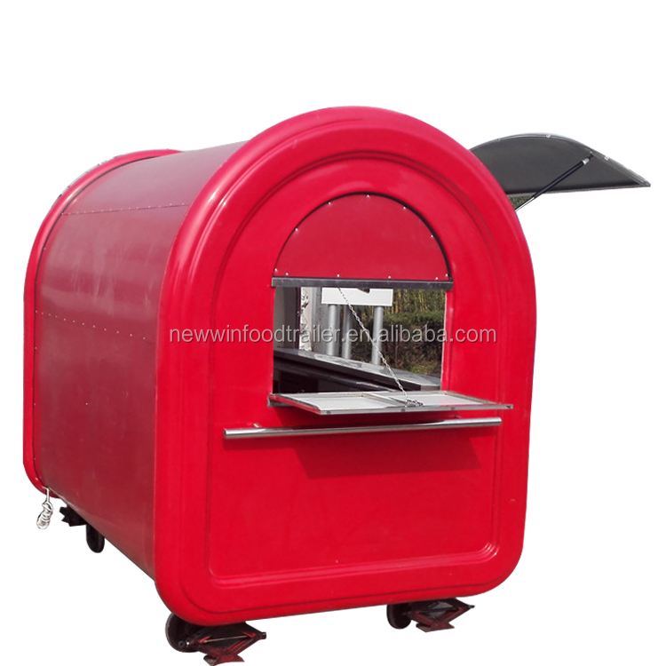 Factory direct outdoor food kiosk trailer for sale