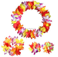 Wholesale high quality flower strings garlands/Hawaiian flower lei /flower wreaths