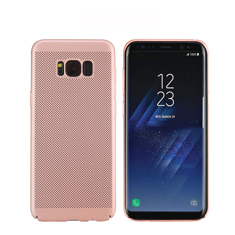 Ventilate Mesh Heat Proof Radiation Hard PC Phone Case For Samsung Galaxy S8